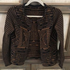 Jacket - Black and Brown Patterned - S